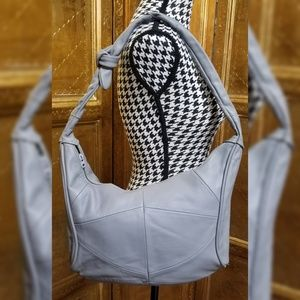 VTG Gray Leather Bag